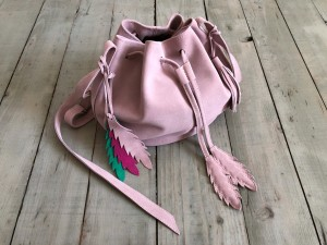 Little Bucket Dirty Pink Suede Ready to Go!