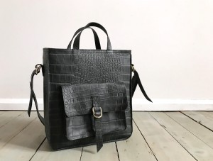 Perfect Vintage Black Mat Croco