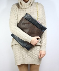 XL Square Dark Leather