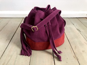 Mini Bucket Bag Plum Suede + Wine Croco Ready to Go!