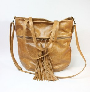 Mass Bag Leather Sand Fringe