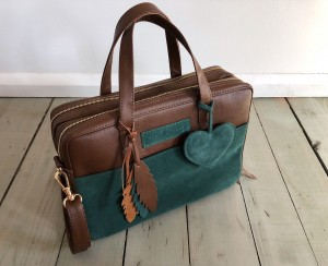 Torba Git Brown + Green + Heart + Feathers Ready to Go!