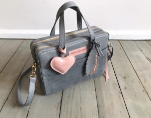 Torba Git + Heart + Feathers Grey + Skin
