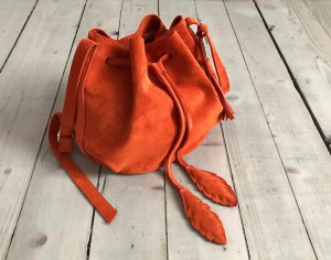 Little Bucket Feathers Bag Pumpkin
