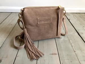 Mini Single Leather Bag Beige Suede Ready to Go! II