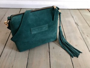 Mini Single Leather Bag Emerald