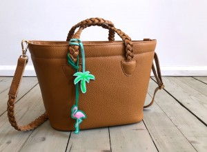 Beach Basket Leather Bag Caramel Brown