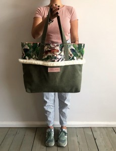 Boho Beach Bag Cheetah + Khaki