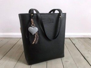 Classic Leather Bag + Feathers + Heart