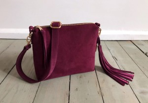 Mini Single Leather Bag Plum