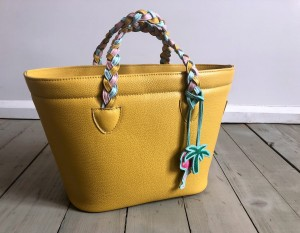 Beach Basket Leather Bag Banana