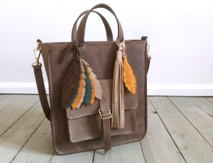 Perfect Vintage Brown + Feathers + Fringe