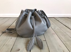 Little Bucket Feathers Bag Grey