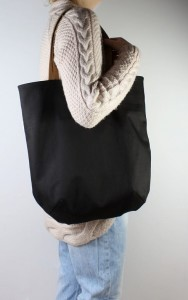 Mass Bag Canvas Black + Leather
