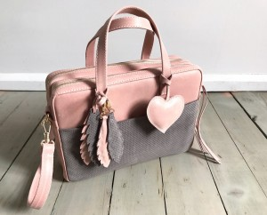 Torba Git + Heart + Feathers Skin + Grey Suede