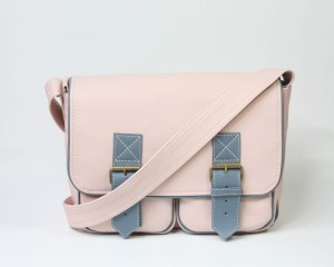 In My Pockets Leather Midi Pale Pink