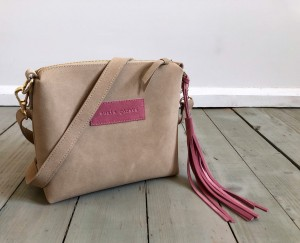 Mini Single Leather Bag Cream Suede + Rose